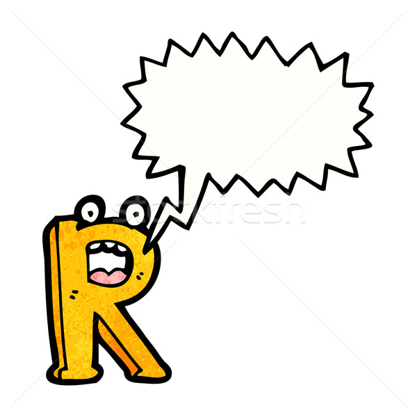 cartoon letter r Stock photo © lineartestpilot