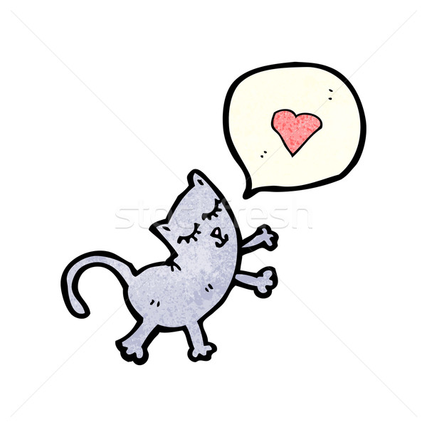 cartoon cat in love Stock photo © lineartestpilot