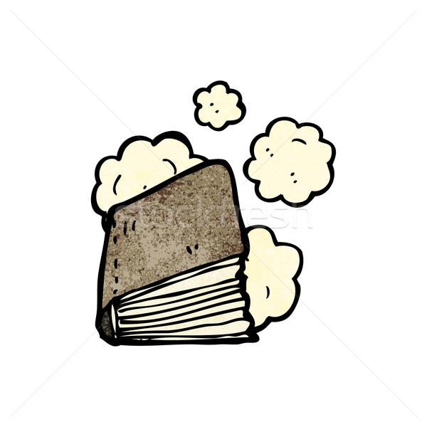 Zakurzony starej książki cartoon tekstury strony książki Zdjęcia stock © lineartestpilot