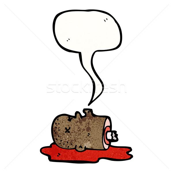 gross severed head cartoon Stock photo © lineartestpilot