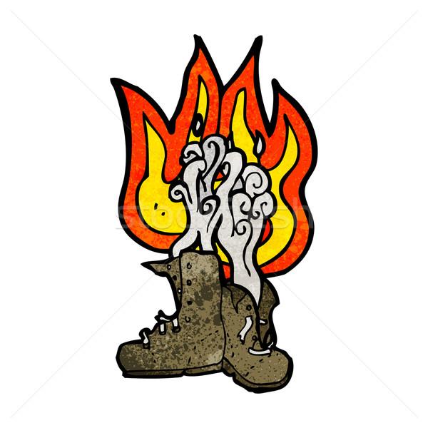 cartoon burning boots Stock photo © lineartestpilot