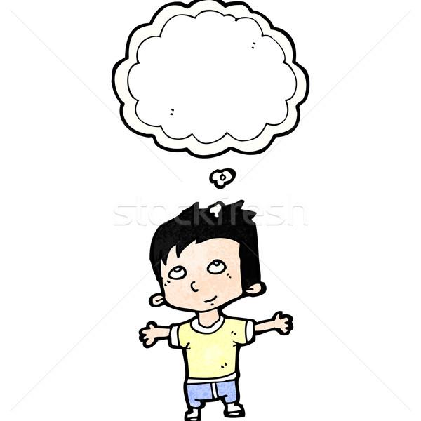 happy cartoon boy imagining Stock photo © lineartestpilot