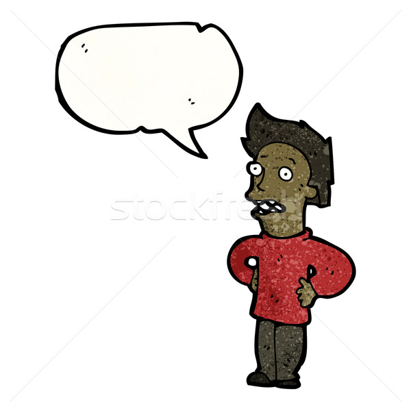 cartoon man talking with hands on hips Stock photo © lineartestpilot