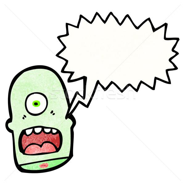 Cartoon tête rétro dessin monstre cute Photo stock © lineartestpilot