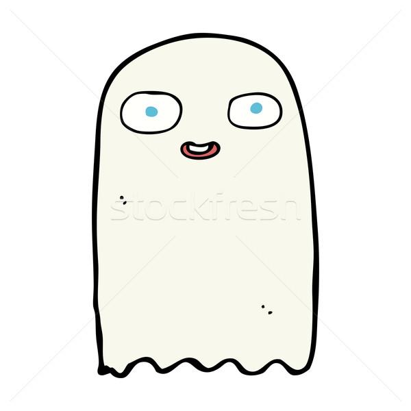 Drôle cartoon fantôme design art rétro Photo stock © lineartestpilot