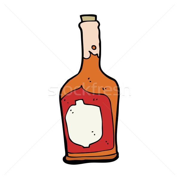 Cartoon bottiglia rum design arte bere Foto d'archivio © lineartestpilot