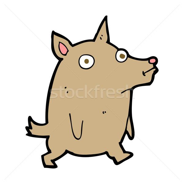 Rajz vicces kicsi kutya kéz terv Stock fotó © lineartestpilot