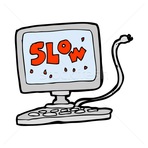 cartoon slow computer Stock photo © lineartestpilot