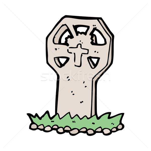 Cartoon grobu strony projektu crazy Zdjęcia stock © lineartestpilot