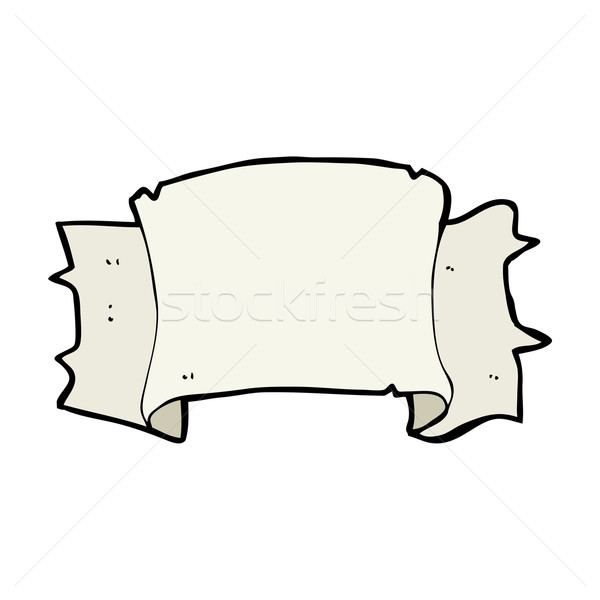 Cartoon heraldiek scroll banner hand ontwerp Stockfoto © lineartestpilot