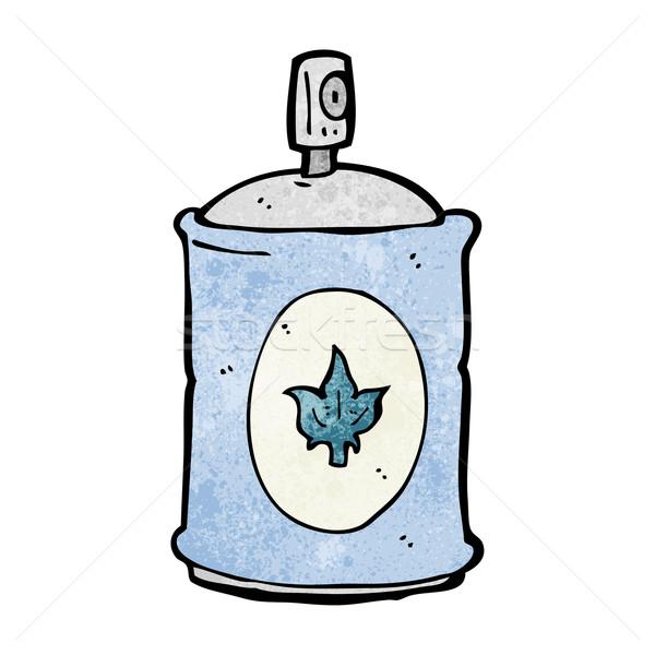 Desenho animado fragrância spray mão projeto louco Foto stock © lineartestpilot