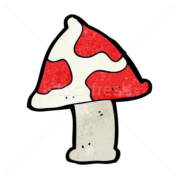 Desenho animado cogumelo venenoso mão projeto louco clipe Foto stock © lineartestpilot
