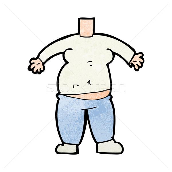 Karikatür vücut maç kendi Stok fotoğraf © lineartestpilot
