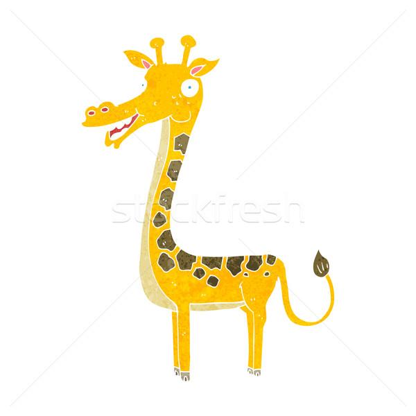 Cartoon żyrafa projektu sztuki zwierząt retro Zdjęcia stock © lineartestpilot