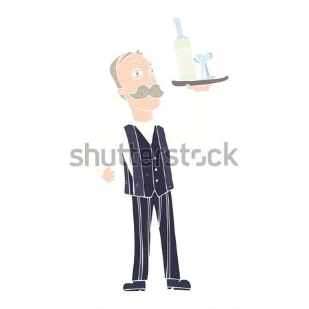 Cartoon infastidito uomo mano design Crazy Foto d'archivio © lineartestpilot