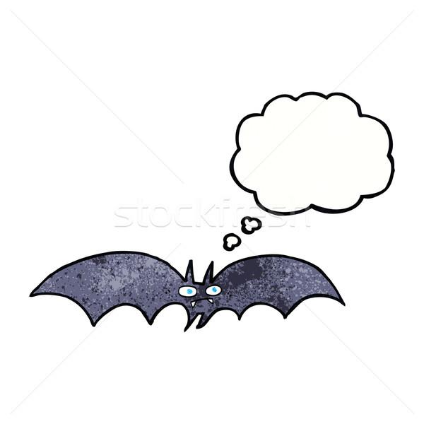 Stockfoto: Cartoon · vampier · bat · gedachte · bel · hand · ontwerp