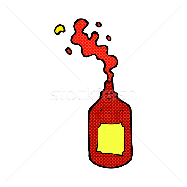 comic cartoon squirting ketchup bottle Stock photo © lineartestpilot