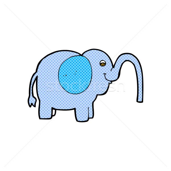 комического Cartoon слон воды ретро Сток-фото © lineartestpilot