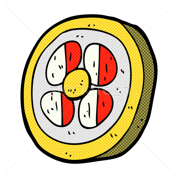 comic cartoon medieval shield Stock photo © lineartestpilot