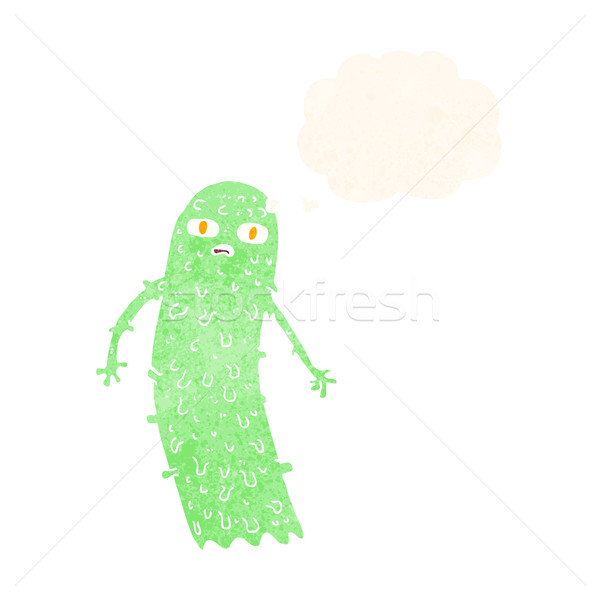 Cartoon fantasma burbuja de pensamiento mano diseno Foto stock © lineartestpilot