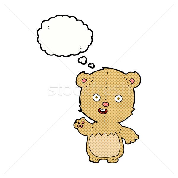 Karikatür oyuncak ayı düşünce balonu el dizayn hayvanlar Stok fotoğraf © lineartestpilot