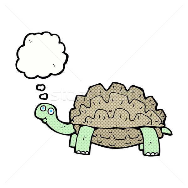 Rajz teknősbéka gondolatbuborék kéz terv állatok Stock fotó © lineartestpilot