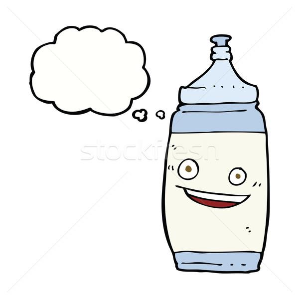 Cartoon фляга мысли пузырь воды стороны дизайна Сток-фото © lineartestpilot