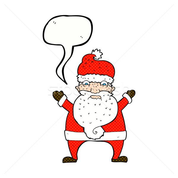 漫画 外に サンタクロース 吹き出し 手 ストックフォト © lineartestpilot