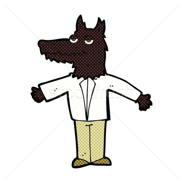 комического Cartoon волка ретро стиль Сток-фото © lineartestpilot