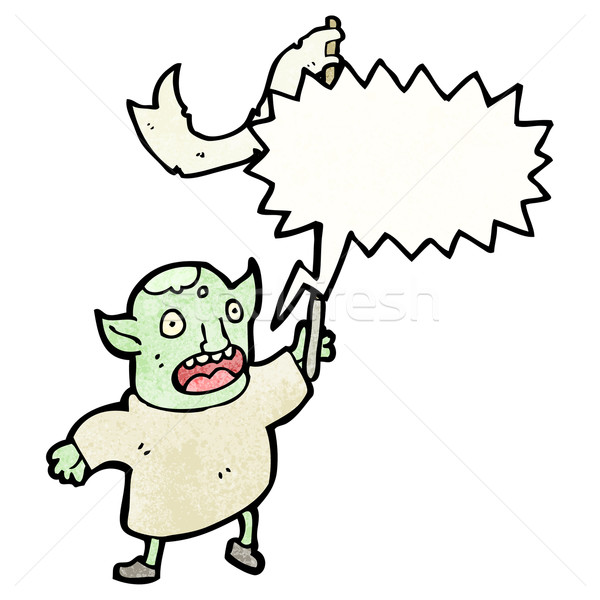 cartoon goblin shouting (raster version) Stock photo © lineartestpilot