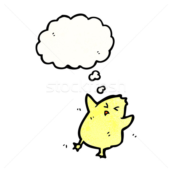 cartoon chick with thought bubble Stock photo © lineartestpilot