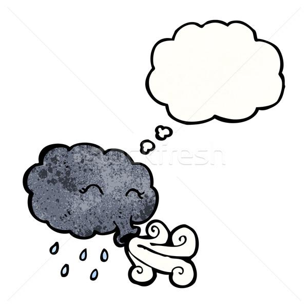 Cartoon tormenta nube viento retro Foto stock © lineartestpilot