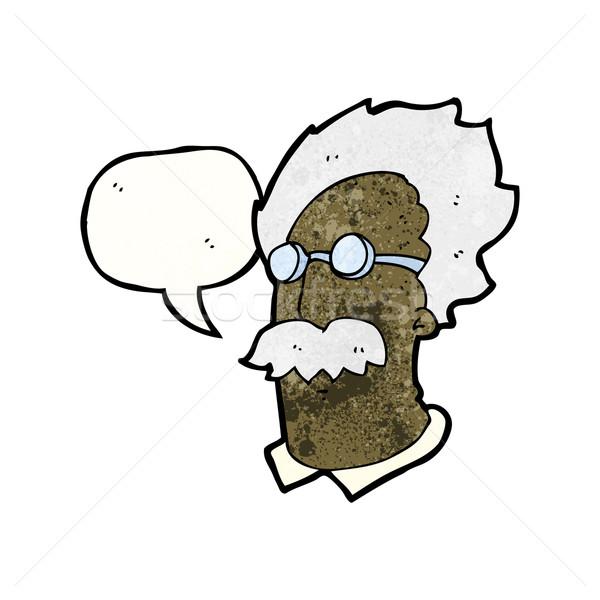 Karikatür dahi bilim adamı adam sanat Retro Stok fotoğraf © lineartestpilot