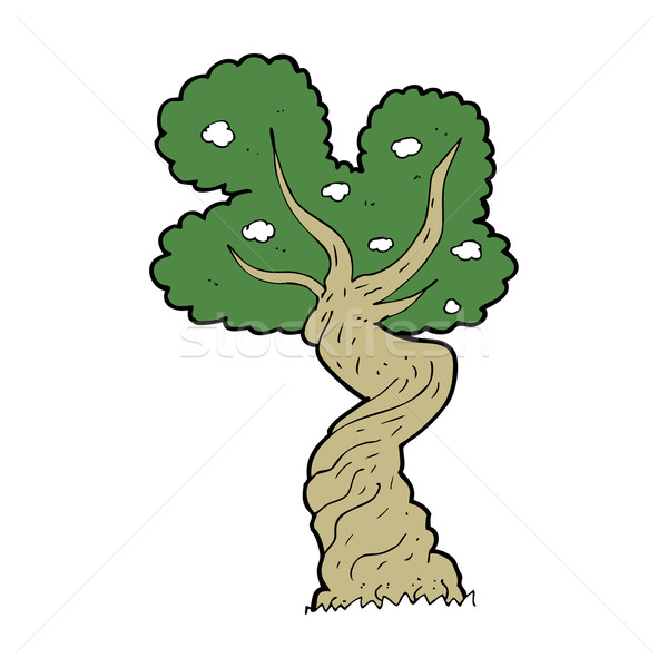 cartoon twisted old tree Stock photo © lineartestpilot