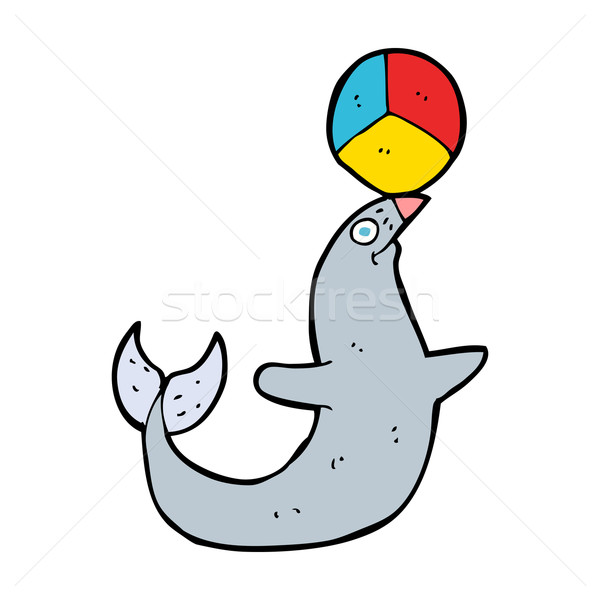 cartoon performing seal Stock photo © lineartestpilot