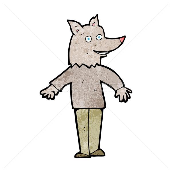 cartoon happy werewolf Stock photo © lineartestpilot