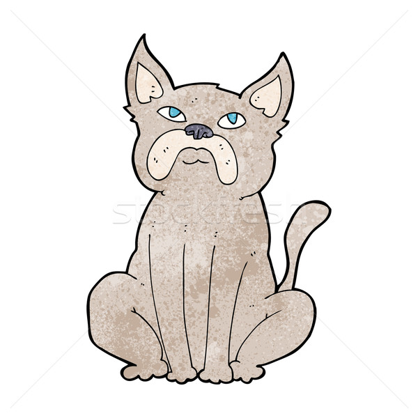 cartoon grumpy little dog Stock photo © lineartestpilot