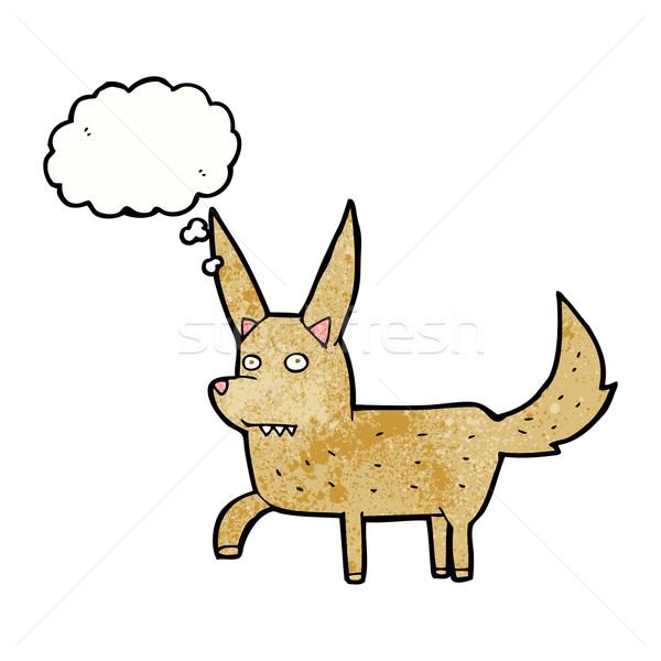 Rajz vad kutya gondolatbuborék kéz terv Stock fotó © lineartestpilot