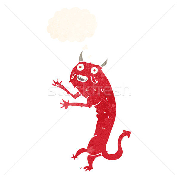cartoon devil with thought bubble Stock photo © lineartestpilot