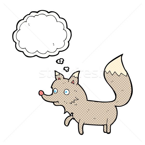 漫画 オオカミ カブ 思考バブル 手 デザイン ストックフォト © lineartestpilot