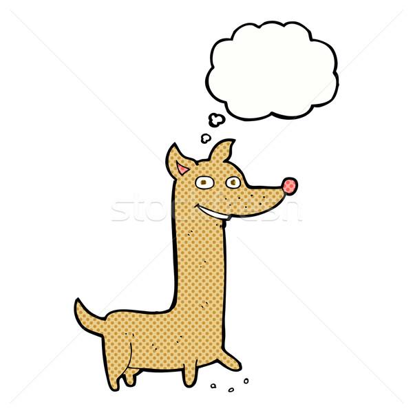 Komik karikatür köpek düşünce balonu el dizayn Stok fotoğraf © lineartestpilot