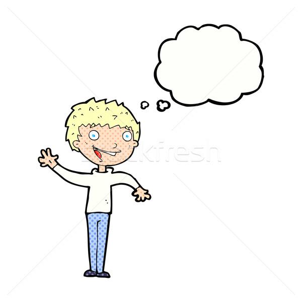 Cartoon мысли пузырь стороны дизайна Сток-фото © lineartestpilot