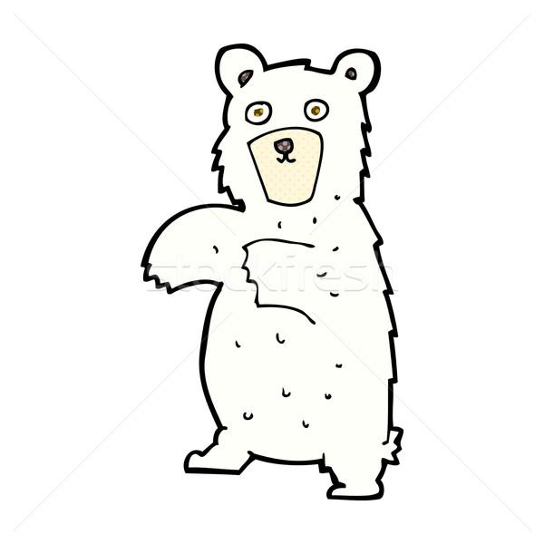 комического Cartoon полярный медведь ретро стиль Сток-фото © lineartestpilot