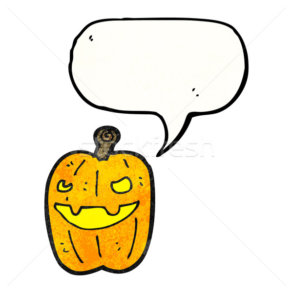 halloween pumpkin cartoon Stock photo © lineartestpilot