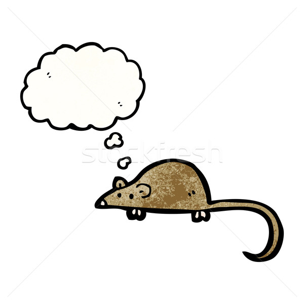 cartoon mouse with thought bubble Stock photo © lineartestpilot