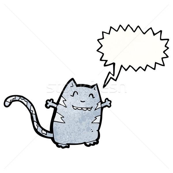 cartoon crazy cat Stock photo © lineartestpilot