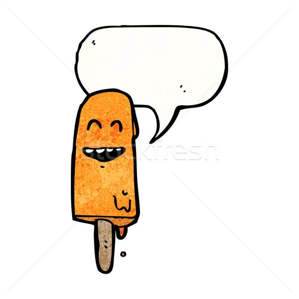 漫画 氷 キャンディー 吹き出し 話し レトロな ストックフォト © lineartestpilot