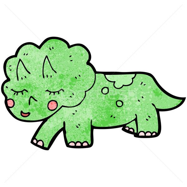 cartoon triceratops dinosaur Stock photo © lineartestpilot