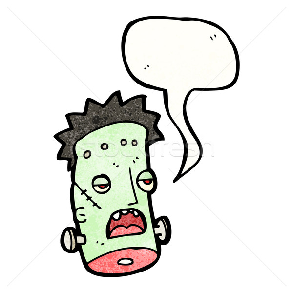 funny frankenstein monster head cartoon Stock photo © lineartestpilot