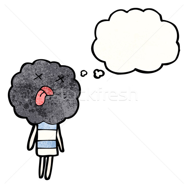 Aranyos felhő fej lény rajz fiú Stock fotó © lineartestpilot